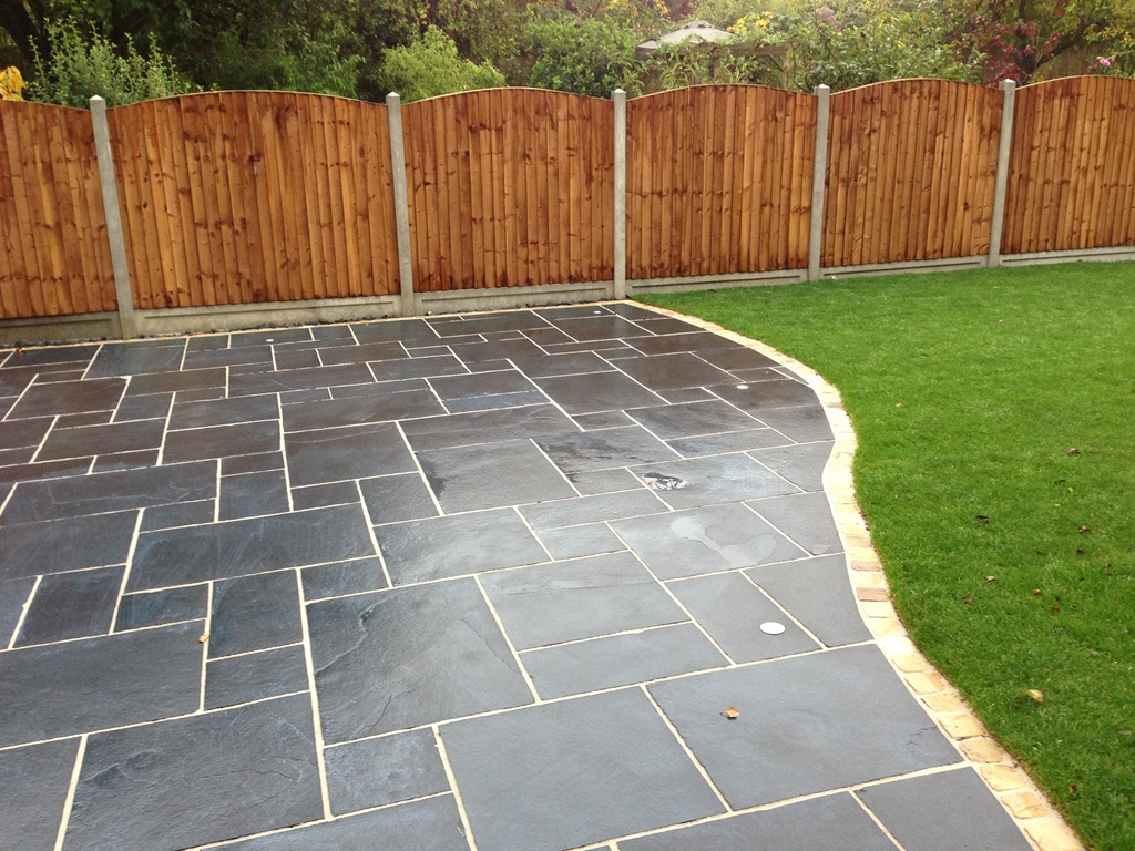 black lime calibrated indian limestone paving 600 mixed. Black Bedroom Furniture Sets. Home Design Ideas